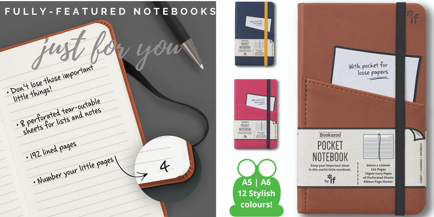 A5 and A6 Bookaroo Notebooks