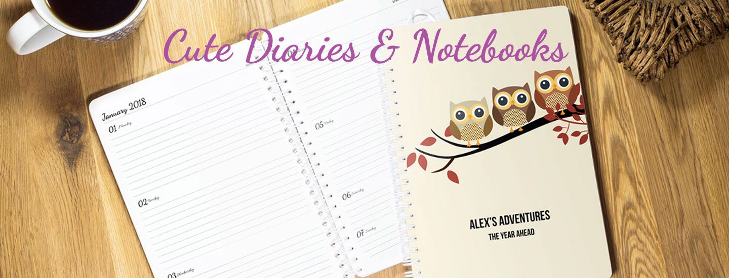Cute & Pretty Diaries Journals & Notebooks 2020