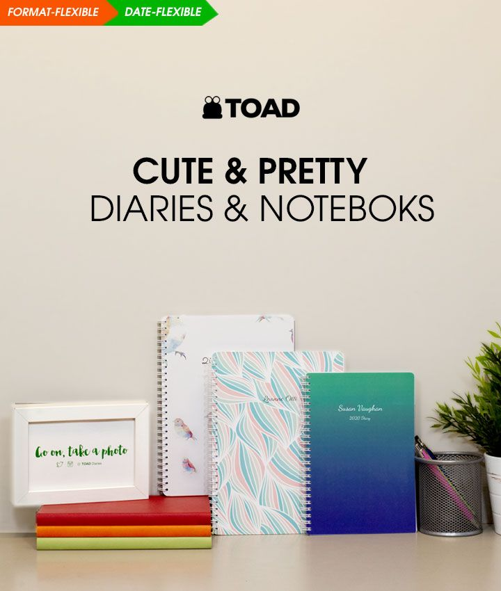 Cute & Pretty Diaries Journals & Notebooks