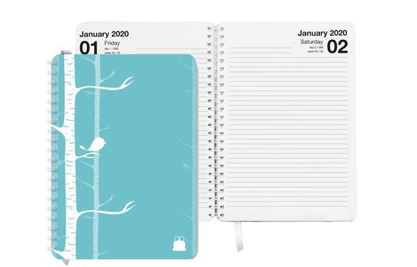 Pretty Birds Cover Diary/Planner