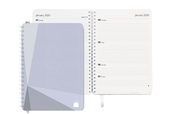 Mono Light Grey Cover Diary/Planner