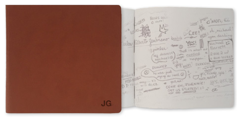 Personalised Sketchbook cover and paper.