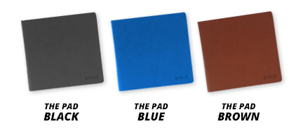 Personalised Sketchbook with Blue, Black & Brown leather covers.