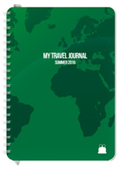 A5 size Travel Journal Green cover Font 1