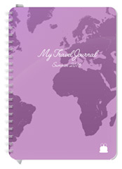 A5 size Travel Diary Purple Cover design Font 2