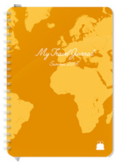 A5 size Travel Diary Light brown Cover design Font 2