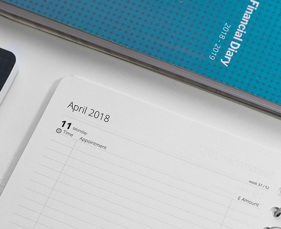 April to April Diary. Perfcet to cover your tax year.