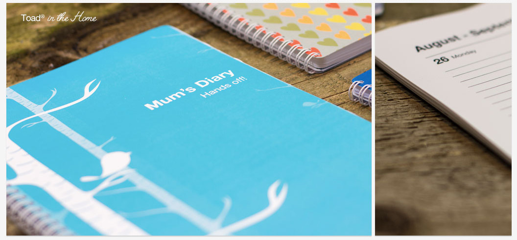 Design your own diary with our new TOAD in the home covers
