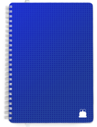 A5 Day per page Blue Cover