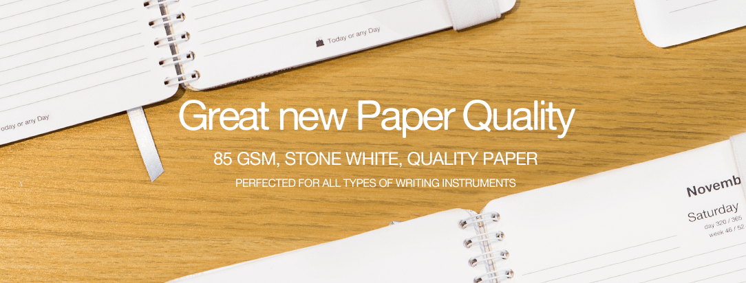 New better quality paper.  Great for any type of pens.